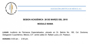 Sesión Académica Módulo Mama